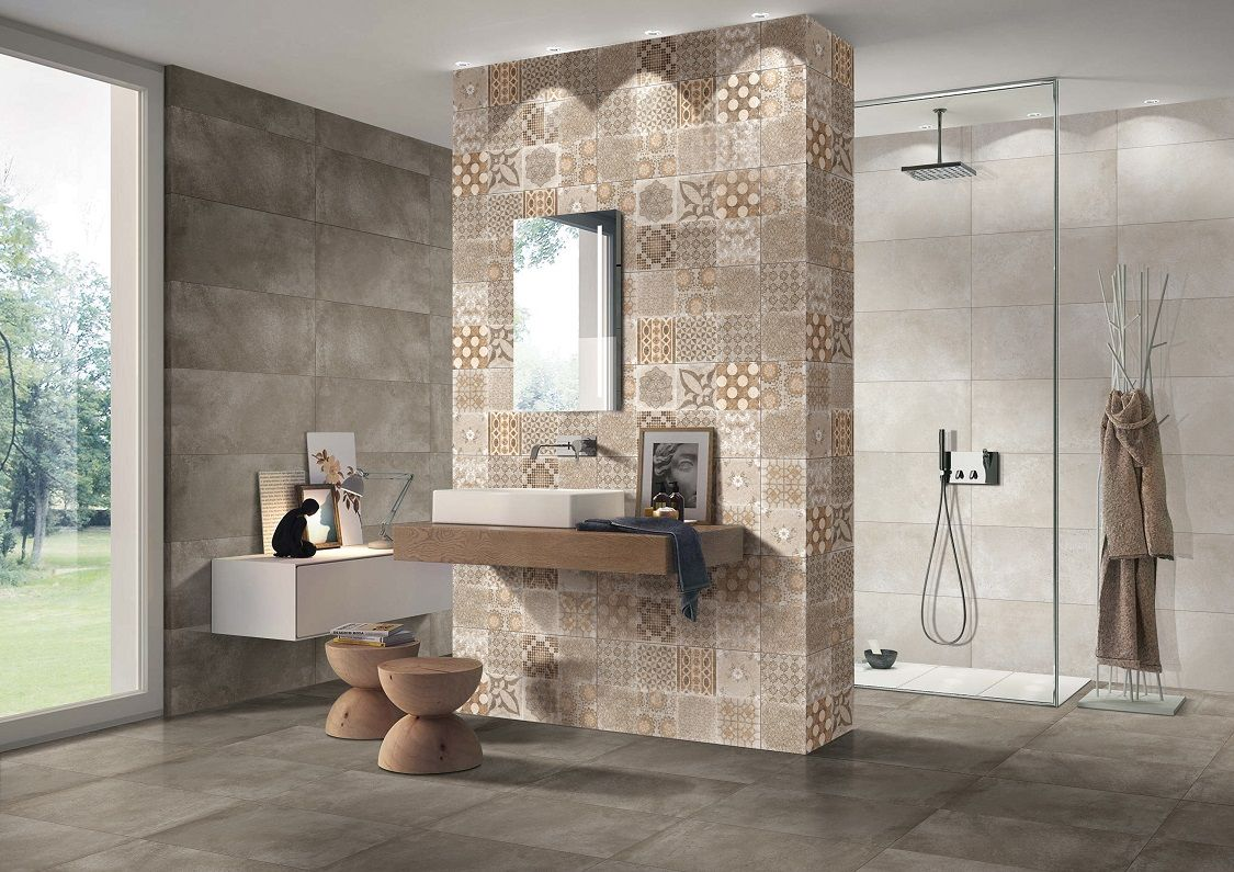 Tile industry porcelain tiles products ceramic tiles for Bathroom designs kajaria