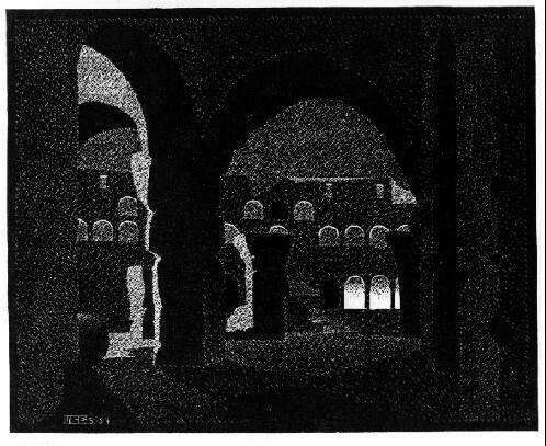 Maurits Cornelis Escher Notturno Romano: il Colosseo 1934