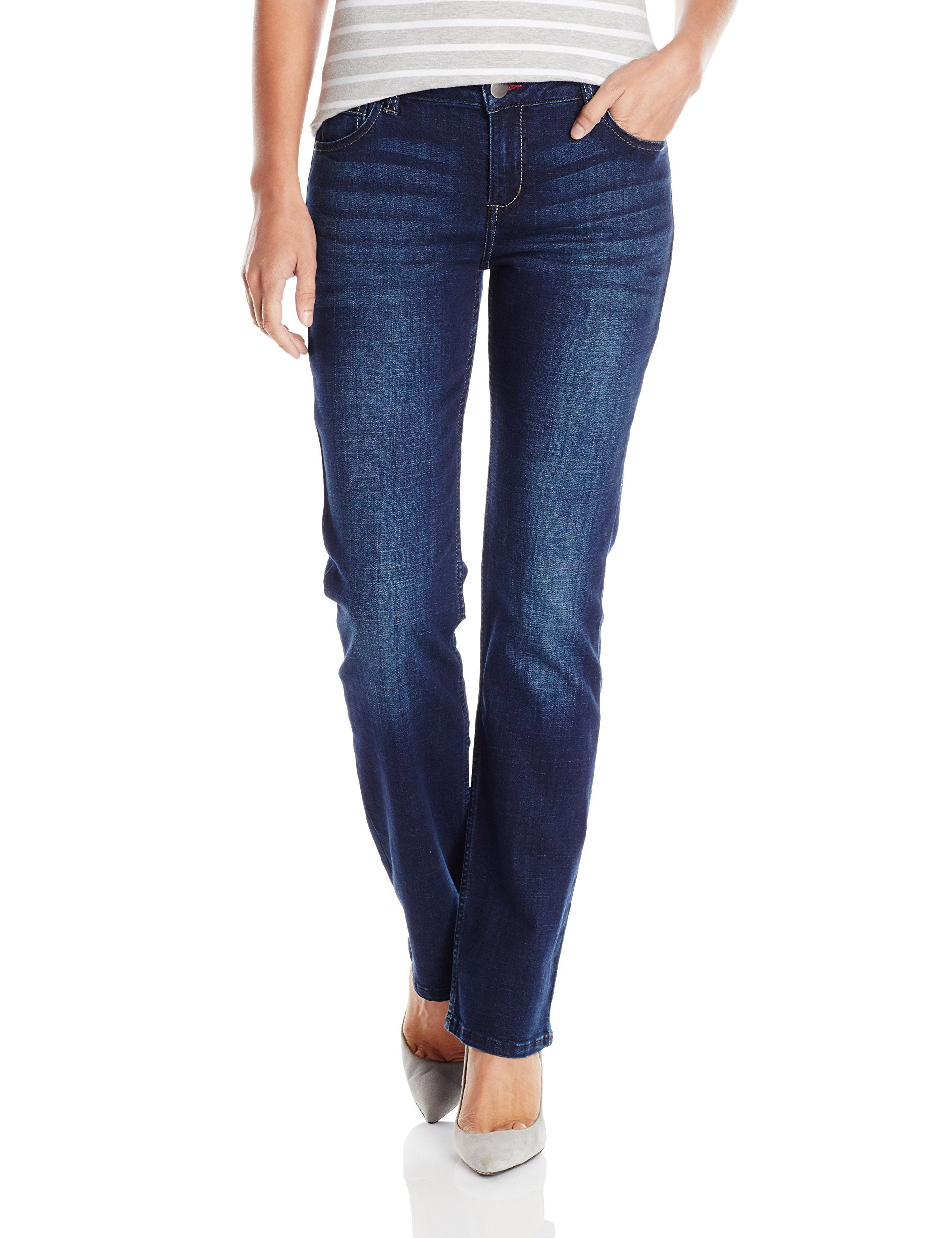 5dedc8cf Wrangler Authentics Womens Mid Rise Straight Leg Jean Indigo Depths 16 --  Check this awesome product by going to the link at the image.