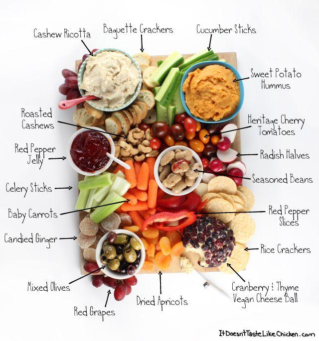 How To Make A Vegan Snack Board Recipe Vegan Party Food Appetizer Platters Snacks