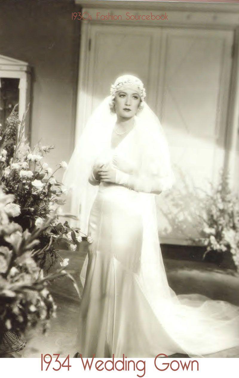 1934-Wedding-Gown.jpg (800×1267) | Wedding | Pinterest | 1930s ...