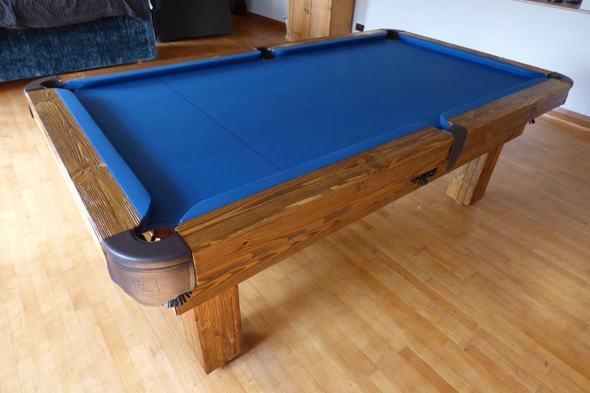 Rustic Pool Table In Softwood 6 And A Slate Blue Cloth Www Luxury Tables Co Uk
