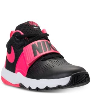 f68ad4847a38 Nike Boys  Team Hustle D8 Basketball Sneakers from Finish Line - Black 5.5
