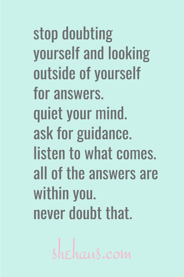 The Answers Are Within You