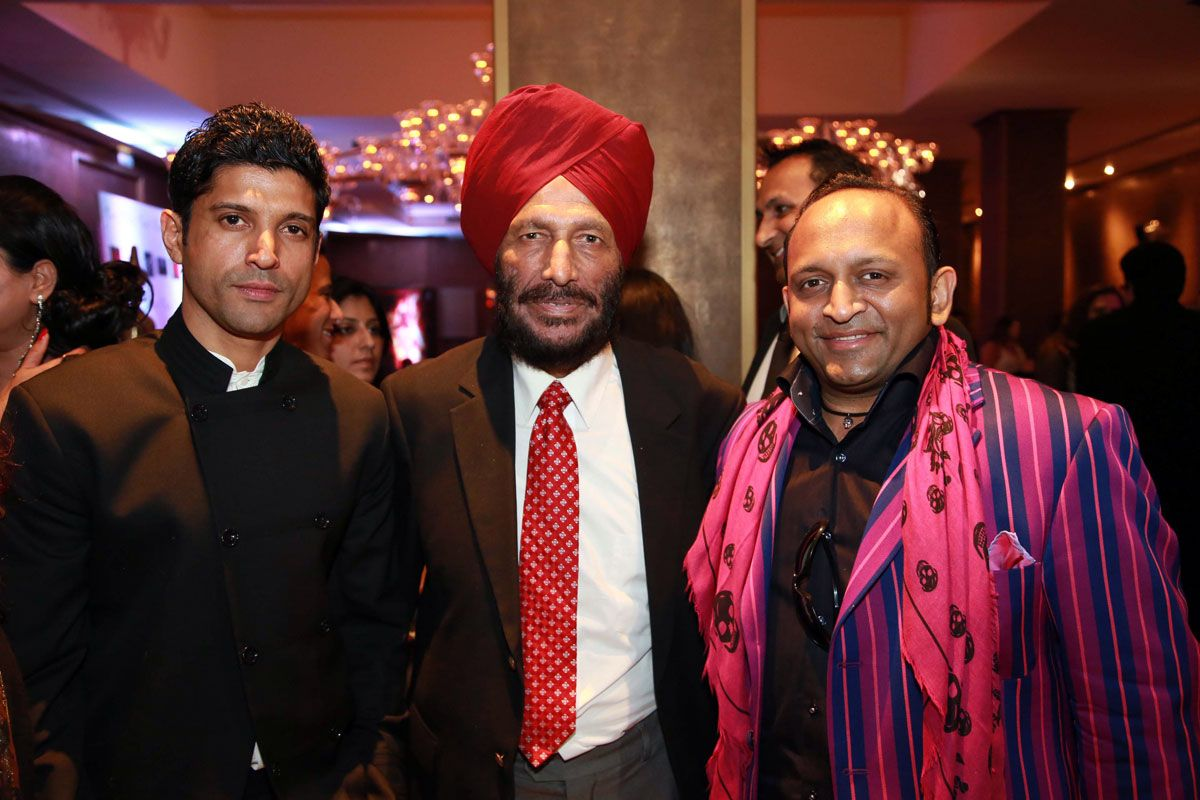 """MILKHAJI'S COMMENTS WERE TWISTED File photo of Farhan Akhtar, Milkha Singh and Deepak Kuntawala. (Sterling Media)    Farhan Akhtar, who played Milkha Singh in biopic """"Bhaag Milkha Bhaag"""", feels the sprint legend's comments over the appointment of a Bollywood celebrity as the goodwill ambassador for the Indian contingent at Rio Olympics were taken out of context http://siliconeer.com/current/2016/04/30/milkhajis-comments-were-twisted/"""