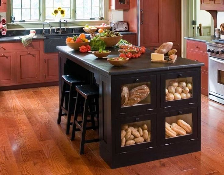 luxury portable kitchen island with bar stools | portable