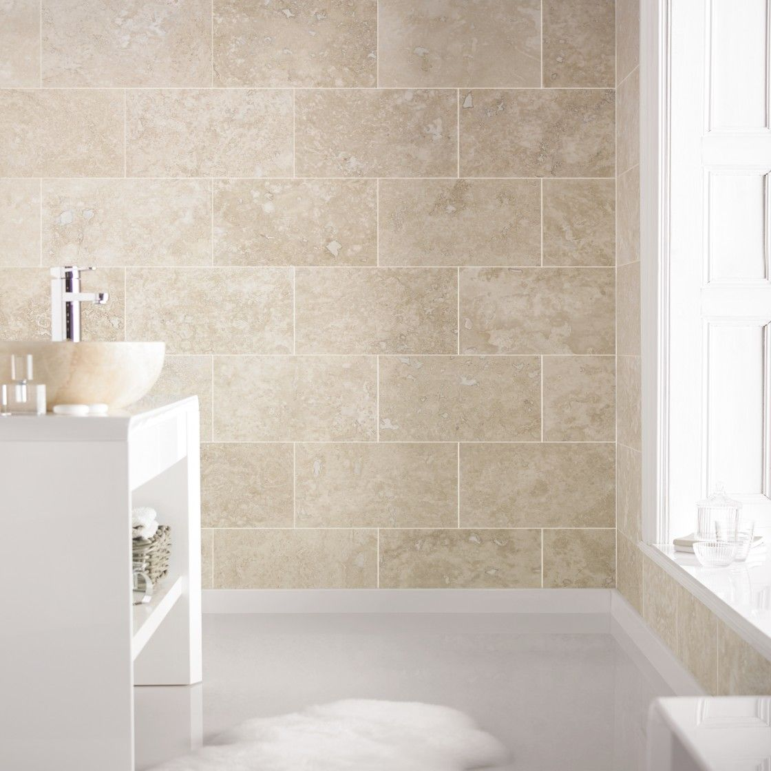 Wall Tile For Bathrooms: Brighten Up Your Home With Lighter Travertine Tiles, Like