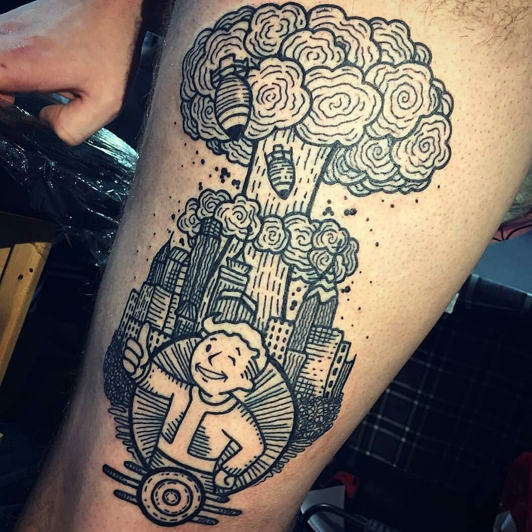 Tattoo Ideas Gaming: #falloutfriday Incredible Fallout Themed Tattoo By