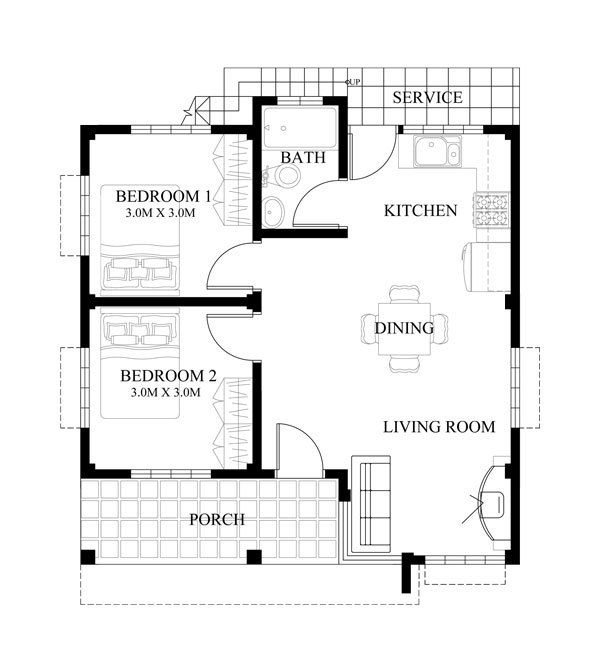 Plan Details Floor Plan Code Shd-2015016 Small House -3277