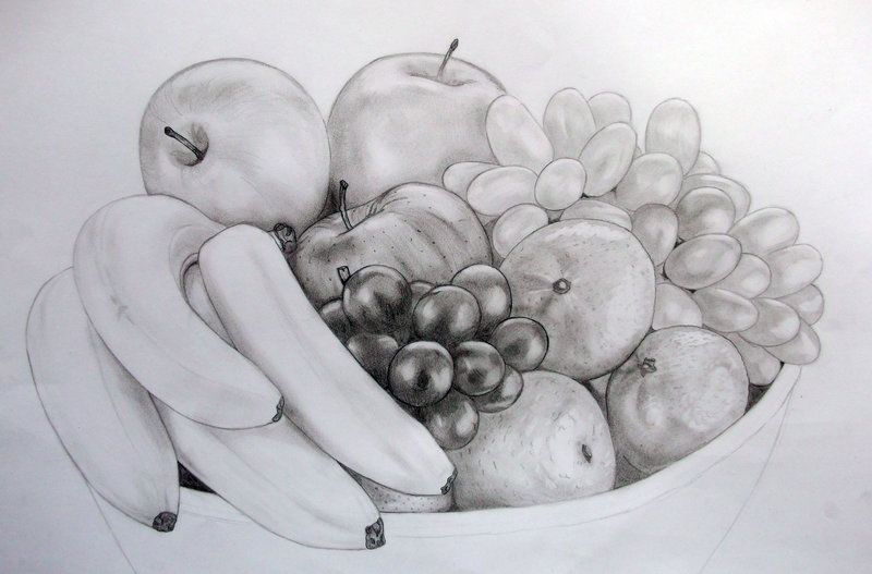 Fruit Bowl by Wackdog on deviantART | Fruit sketch, Fruits drawing, Fruit bowl drawing