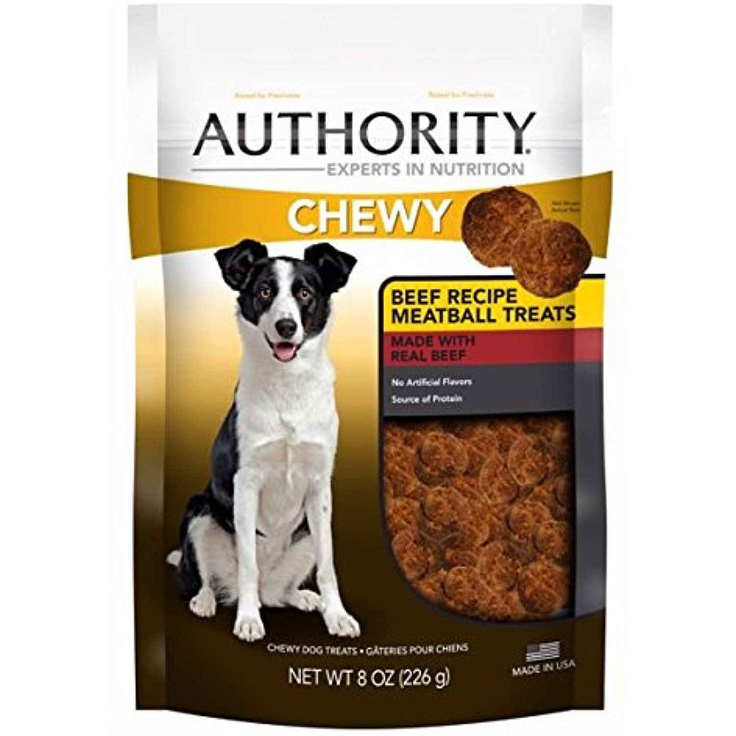 Authority Chewy Beef Recipe Meatball Dog Treats 8 Oz You Can