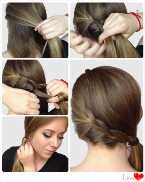 Superb Simple Indian Hairstyles For Medium Hair Step By Step Side French Braided  Hairstyle For Party 2013