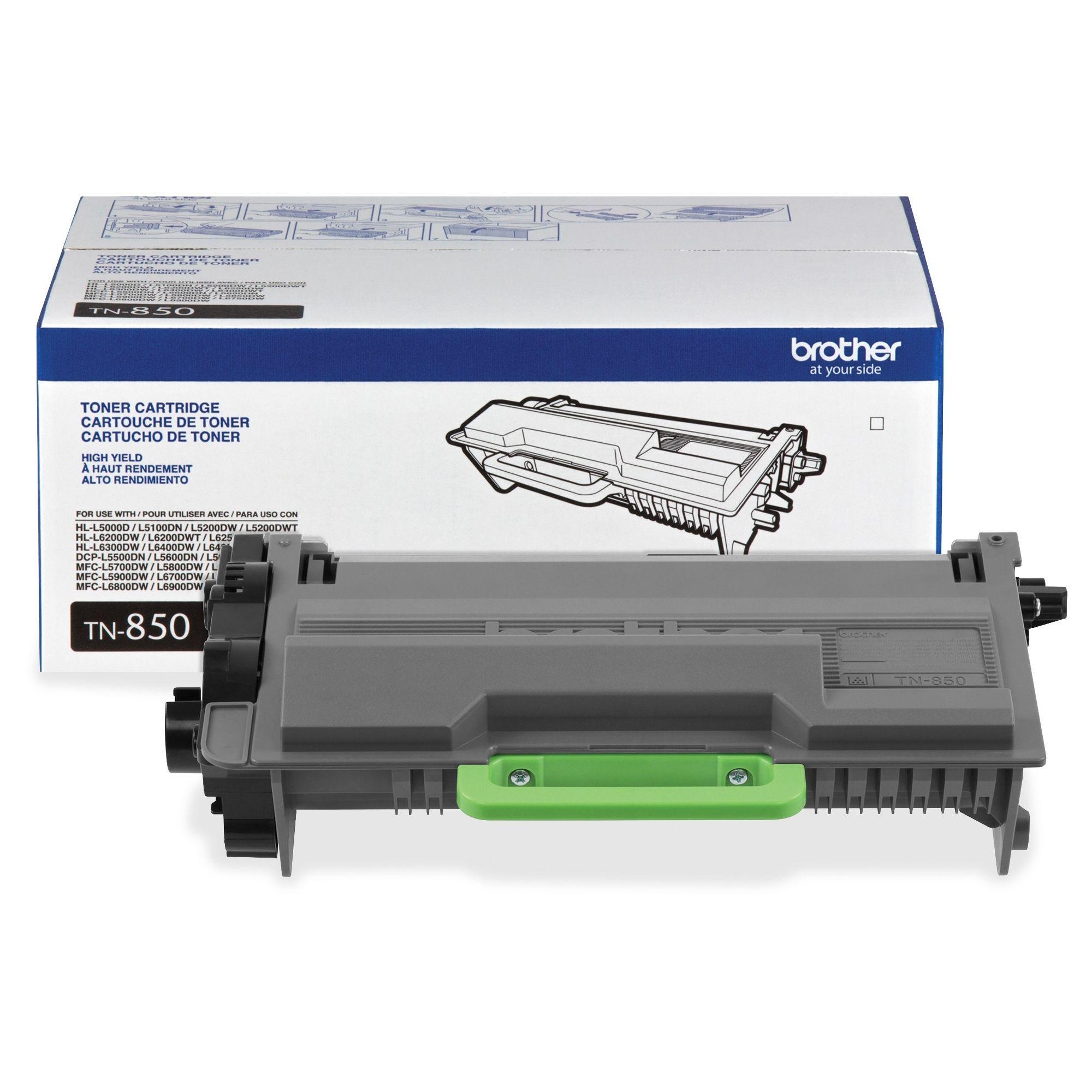 8000 Page Black Brother Tn850 Toner Cartridge Oem High Yield Laser