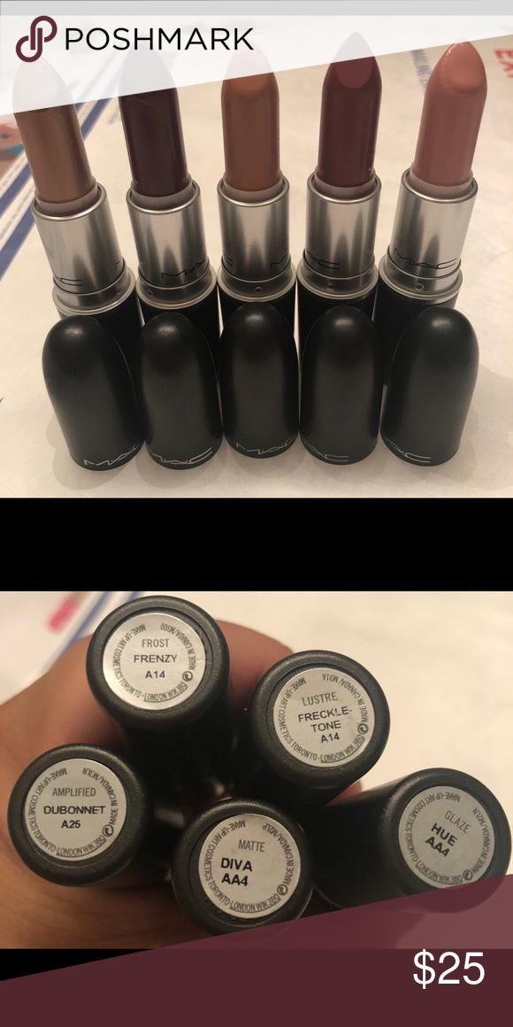MAC frost lipstick in shades Frenzy