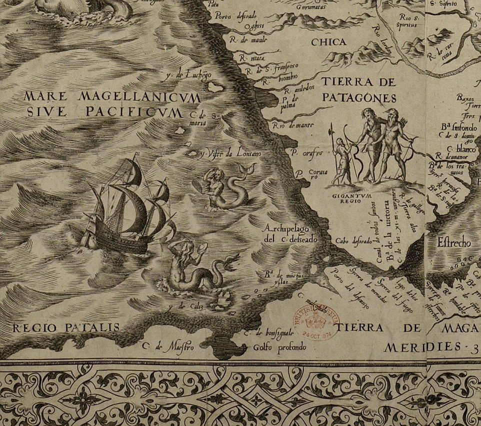 Map of the Americas from 1562 reveals fears of monsters and