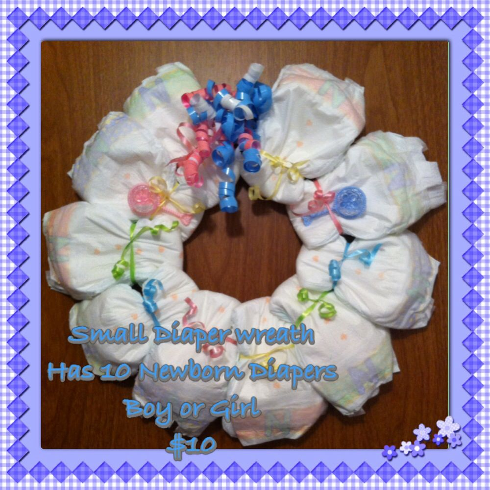 Anita's Small Diaper Wreath