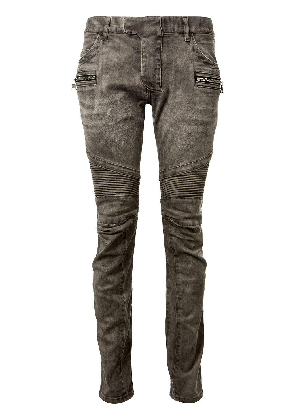 biker skinny trousers - Grey Balmain h7Eebh