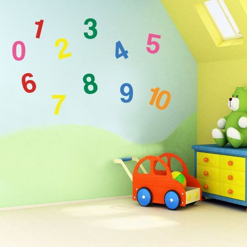 Vinyl Concept Childrens Wall Stickers Nursery Numbers To Wall - Vinyl wall decals removable how to remove