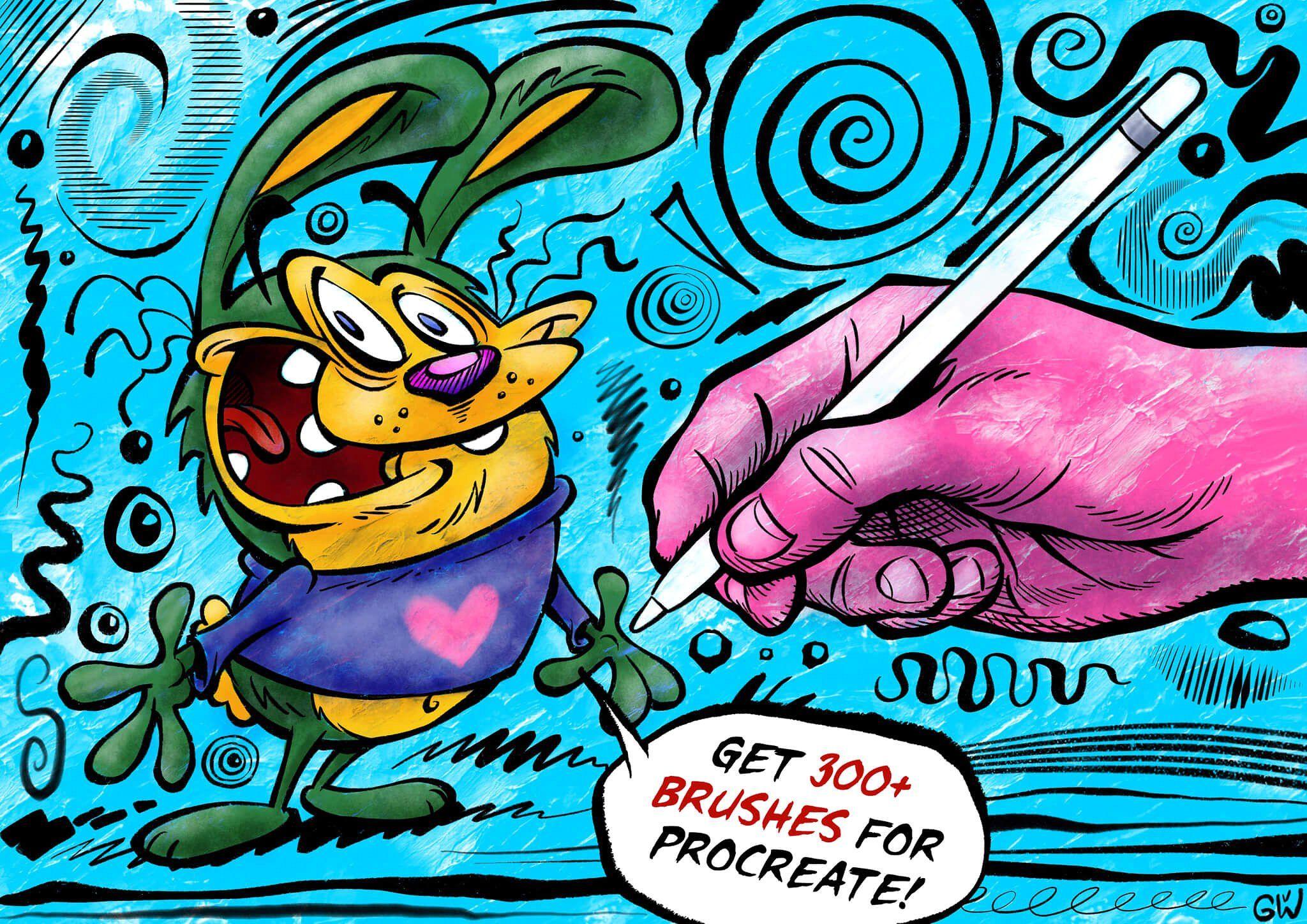 Megapack 550 brushes for procreate procreate brushes