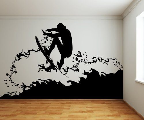 Vinyl Wall Decal Sticker Surfer size 96inX160in item AC18...