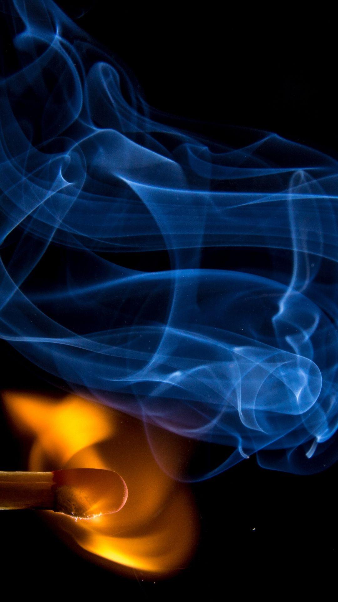 Match Fire Abstract Dark #iPhone #6 #plus #wallpaper