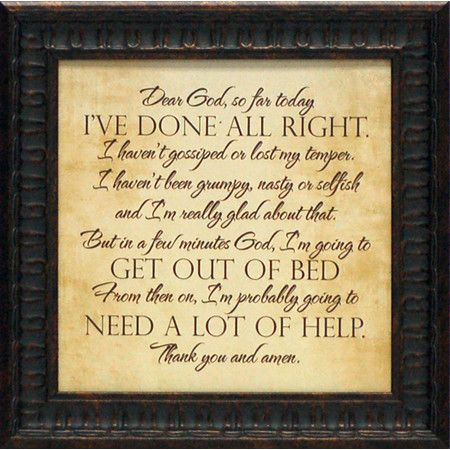 Found it at Wayfair - Dear God Framed Textual Art http://www.wayfair ...