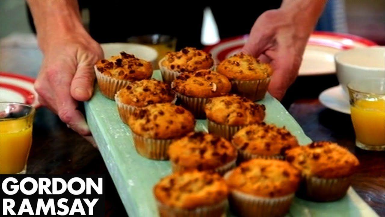 Pear & Crunchy Granola Muffins By Gordon Ramsay - YouTube