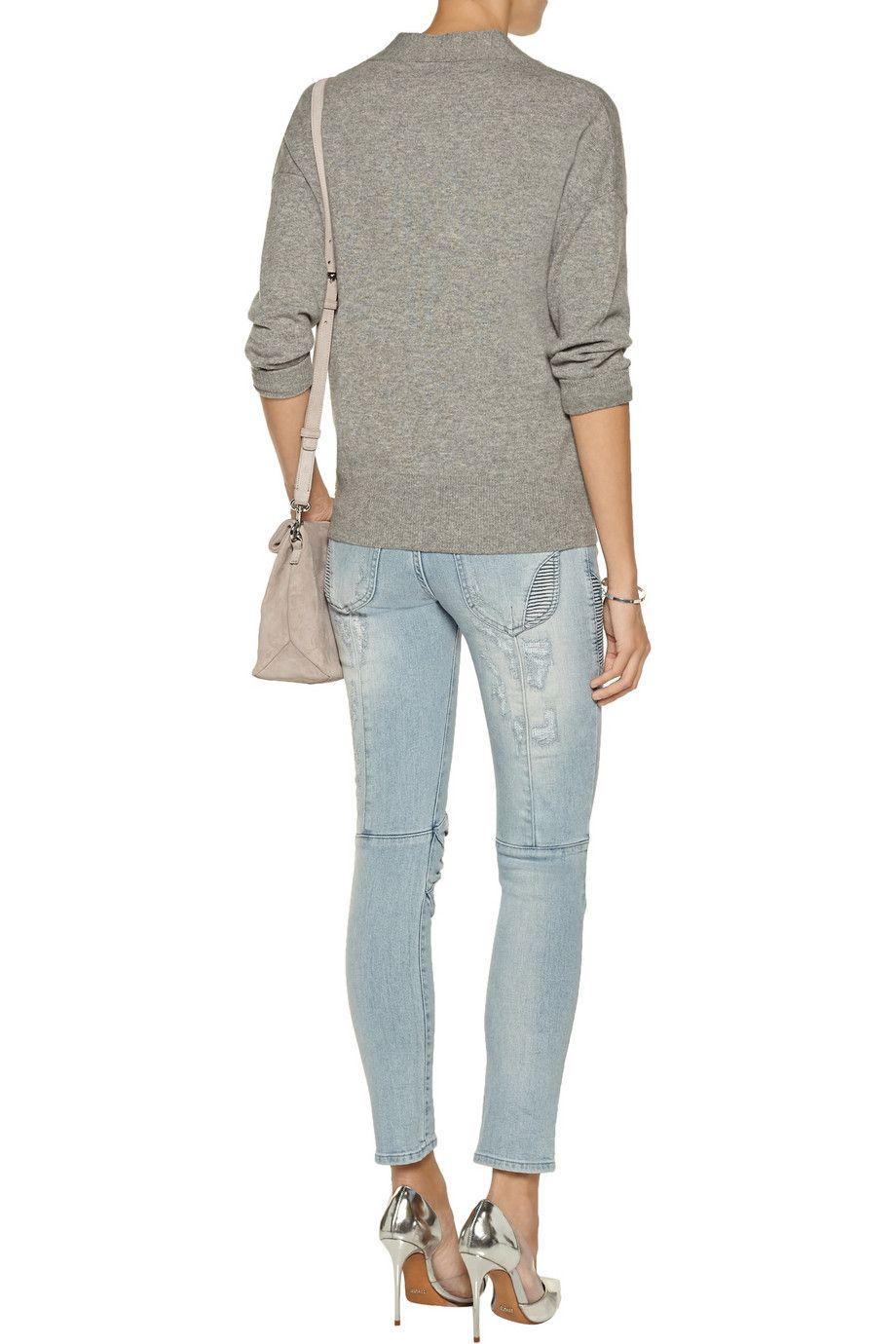Pierre BalmainLow-rise skinny jeansclose up