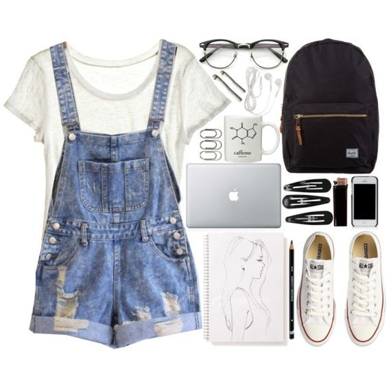 434acbaa157 10 Adorable Outfits with Dungarees - Cute Outfits for Girls