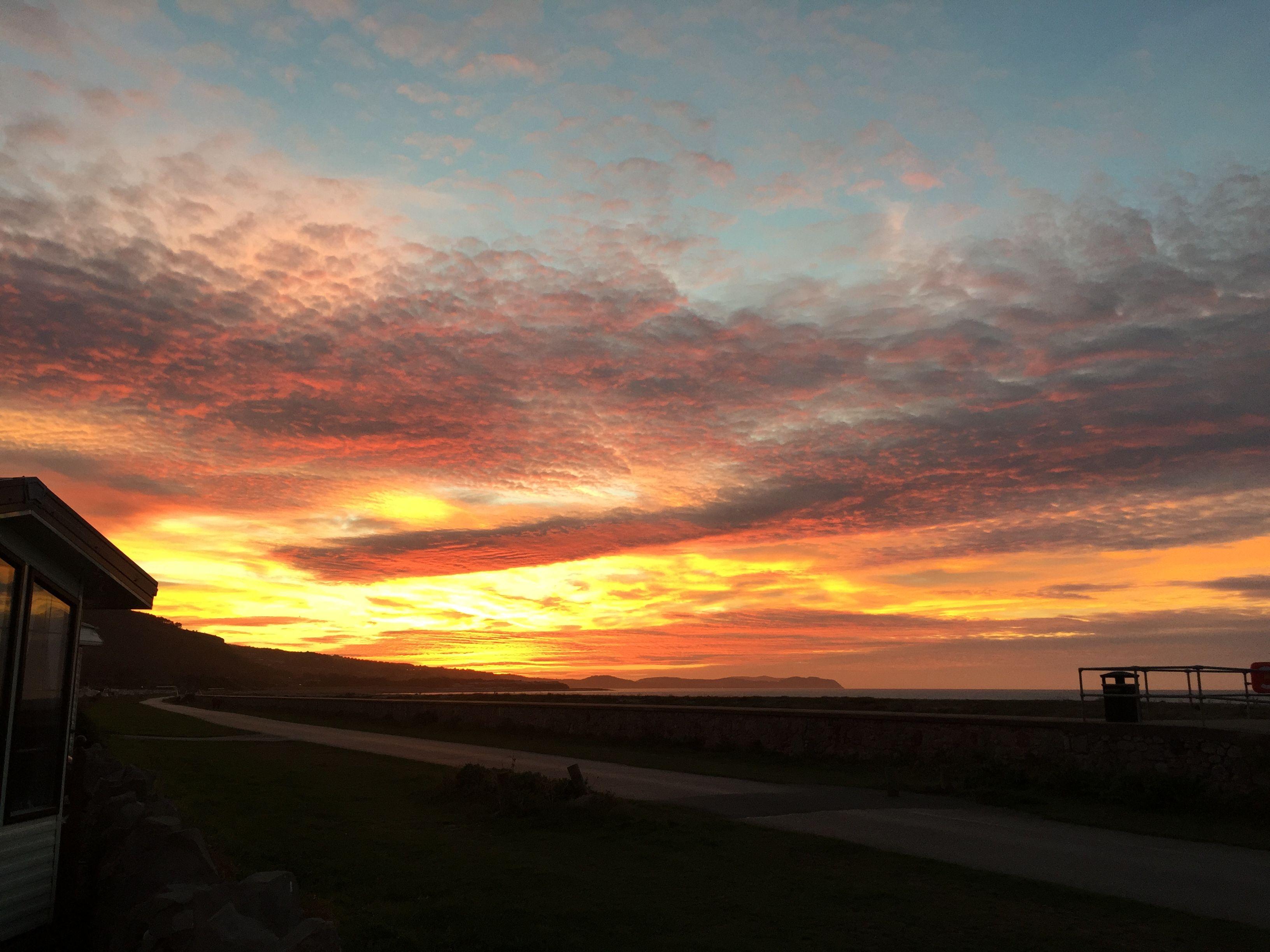 Sunset in Abergele