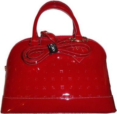 8fcf2e4dc0 Women s Arcadia Patent Leather Purse Handbag Red  Amazon.co.uk ...