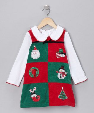 I know it's not Christmas season anymore, but if you can find a cute Christmas dress at a cheap price, why not. TOO CUTE! $12.99 in BLOWOUT!