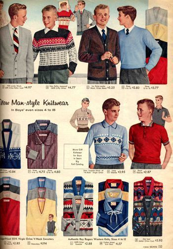 1950 Teenage Clothing Boys fashion in the 1950s exemplified the 1
