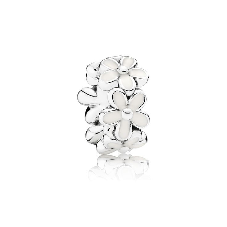 Design your own photo charms compatible with your pandora bracelets. PANDORA | Daisy silver spacer with white enamel