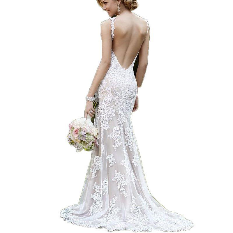 Atemberaubend Preiswerte Spitze Vintage Brautkleider Ideen ...