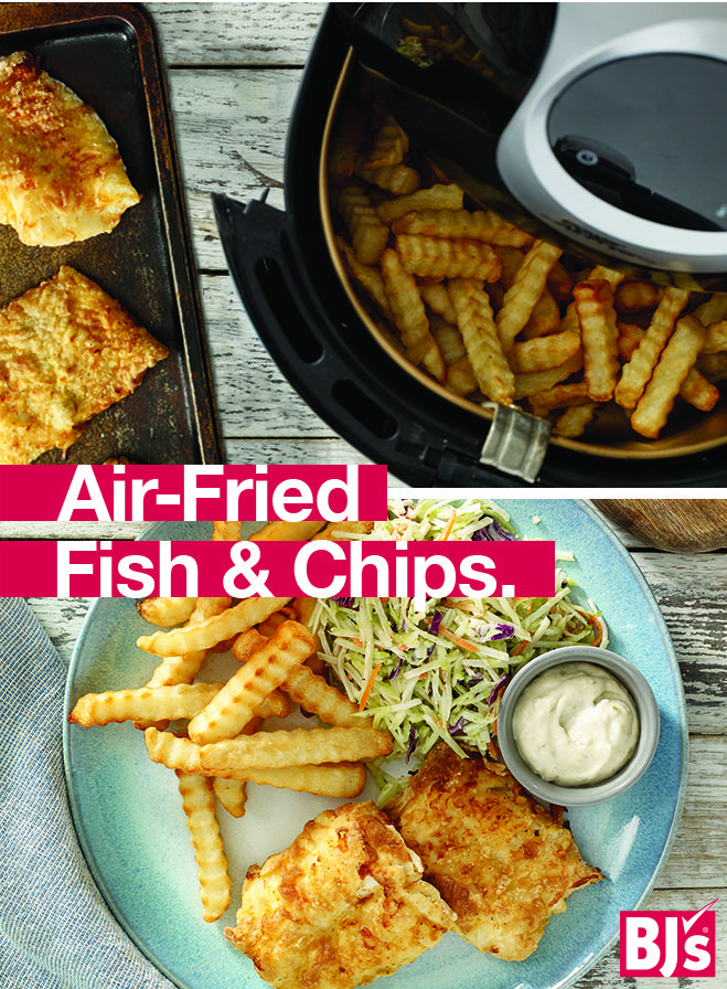 Air Fried Fish and Chips, cooked in a Power 5.3Qt. Air