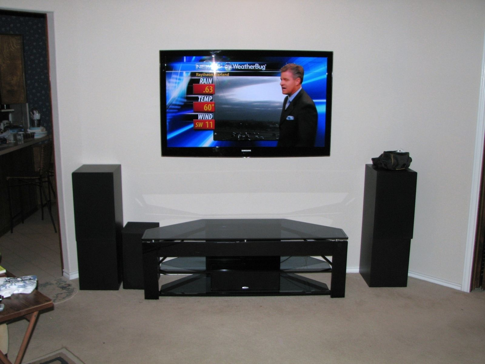 Surround Sound System Wall Mounted Tv Http Bottomunion Com  # Meuble Tv Sony Home Cinema