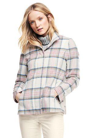 Women's Wool Blend Plaid Jacket