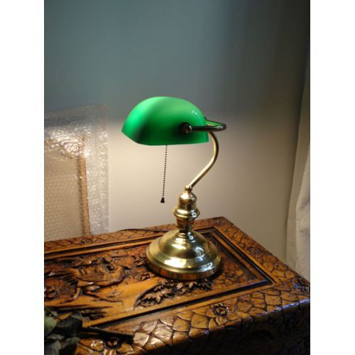 ancienne lampe de bureau style notaire banquier vintage. Black Bedroom Furniture Sets. Home Design Ideas