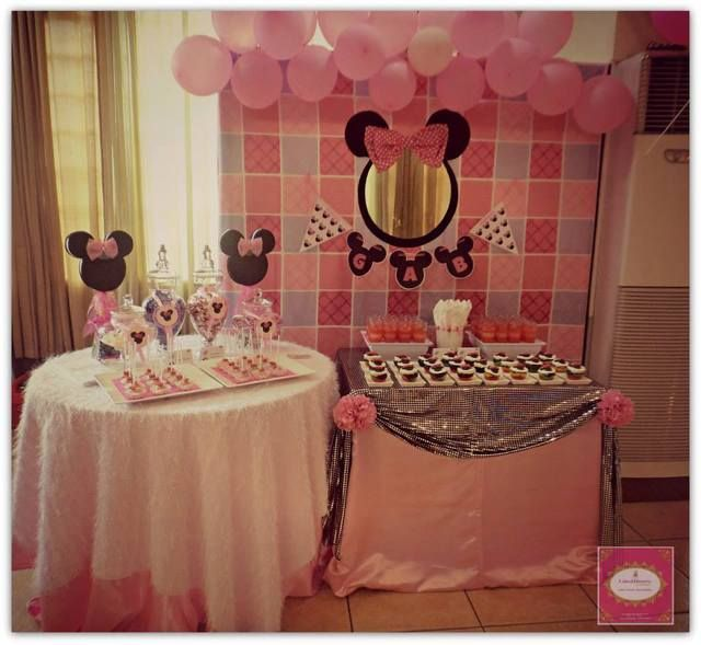 Minnie mouse birthday party ideas minnie decoracion de for Idea de decoracion