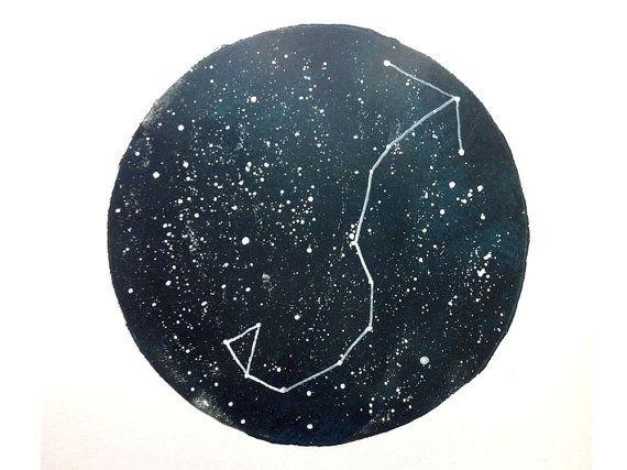 Scorpio Constellation Print by empressprints on Etsy