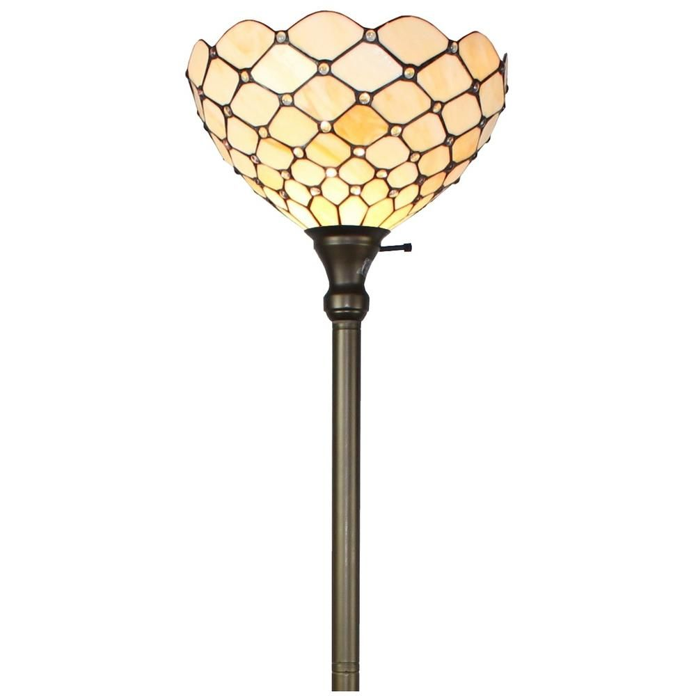 Amora Lighting 72 In Tiffany Style Torchiere Floor Lamp Am1119fl14 In 2020 With Images Tiffany Style Lighting Torchiere Floor Lamp Tiffany Style Floor Lamps