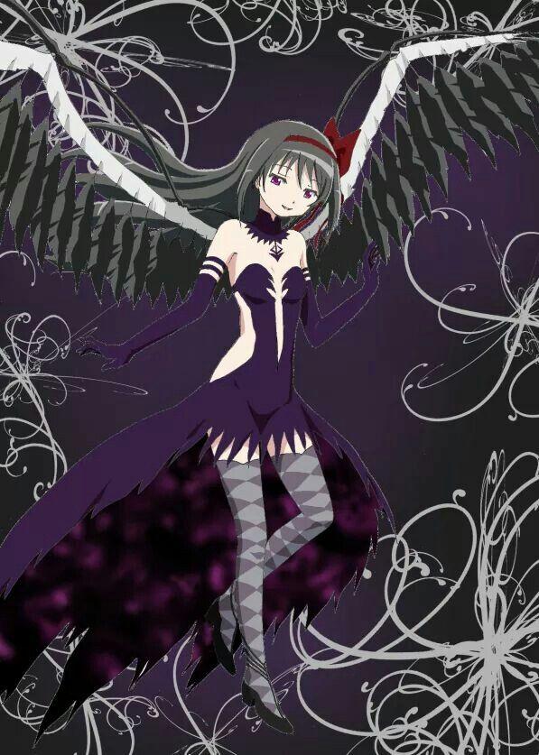 Demon Homura Akemi Mahō Shōjo Madoka Magica Magical Girl Anime