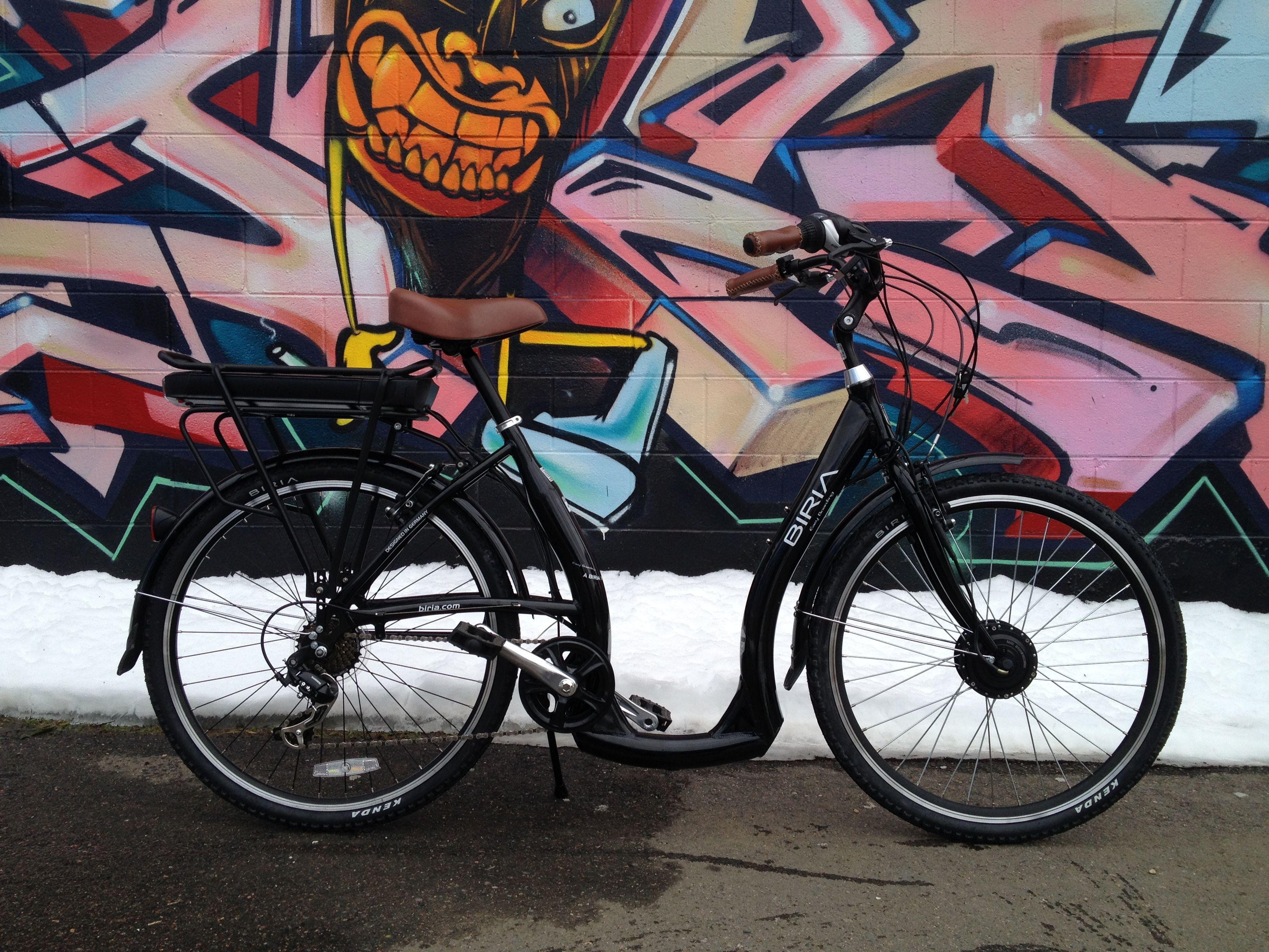 Ebo Cruiser Electric Bike Conversion Kit Installed On A Biria