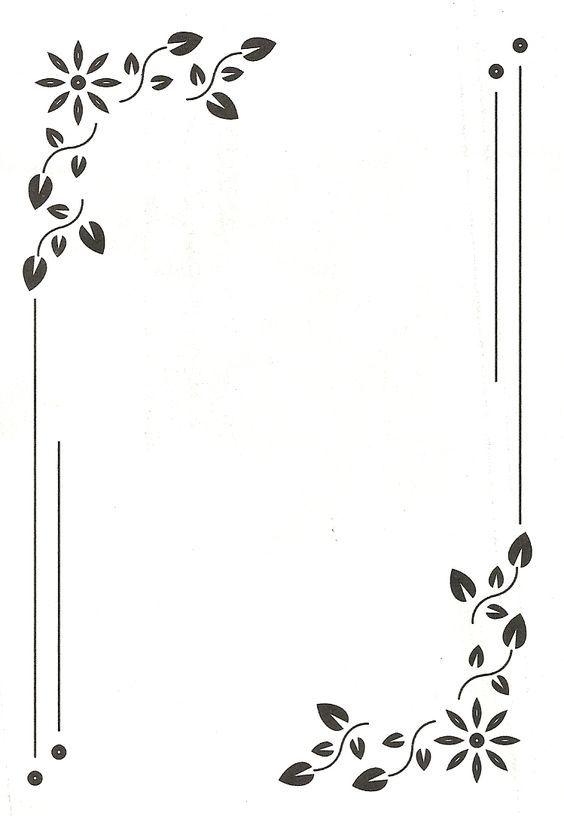 High Border Design For Invitation Card And Page Design Frame