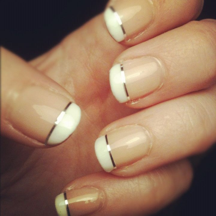 French tip with a little flair