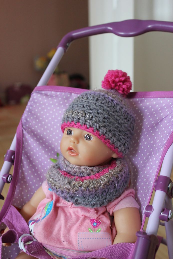 Häkelmütze & Häkelschal für My little Baby Born Puppe ...