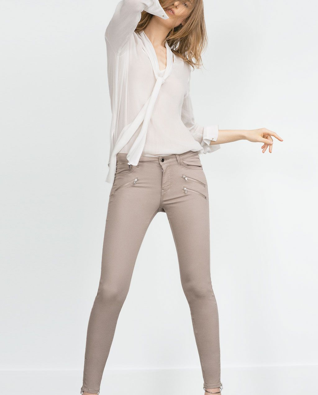 POWERSTRETCH BIKER JEANS-View all-Trousers-WOMAN | ZARA United States