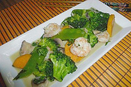 Thaicurry mit Garnelen und Süßkartoffeln (Rezept mit Bild) | Chefkoch.de