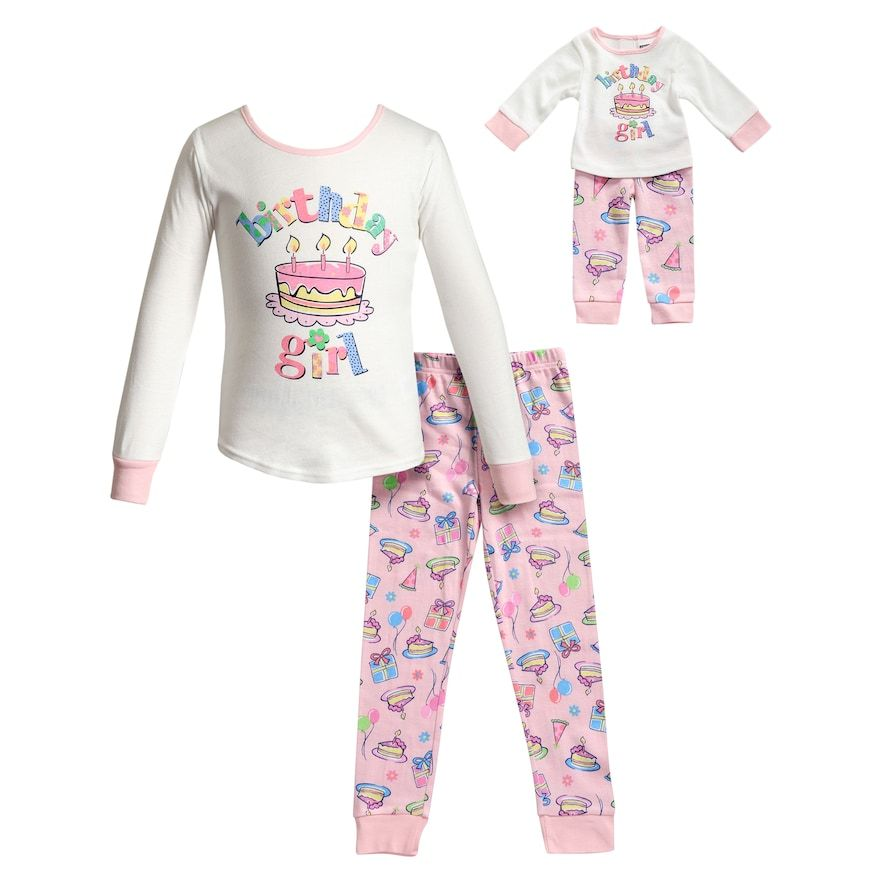 Dollie /& Me Girls 2-Piece Pajama Set with Doll Outfit